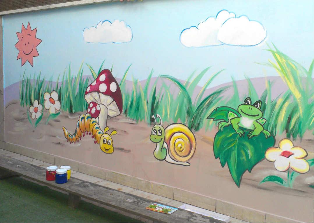 Рисунки для стен на улице своими руками 846